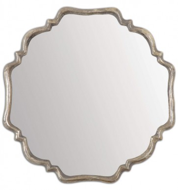 Valentia Shaped Silver Mirror