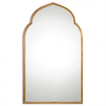 Arched Gold Mirror