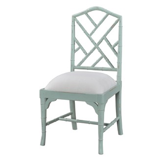 Custom Chinese Chippendale Dining Chair Faux Bamboo Chair