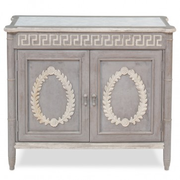 Laurel Greek Key French Cabinet NEW!