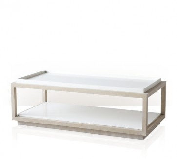 Luxury Montecito Cerused Oak and White Coffee Table (NEW!)