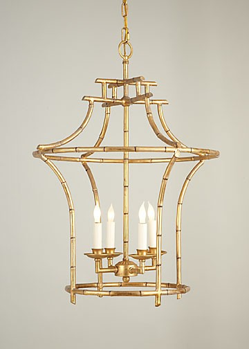 Antique gold faux bamboo chandelier aloadofball