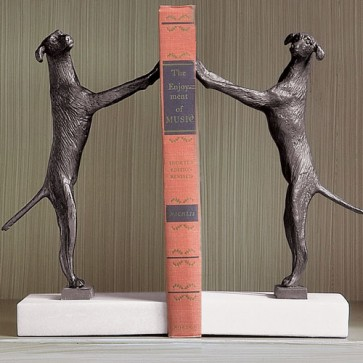 Bronze and Marble Labrador Bookends (Options)