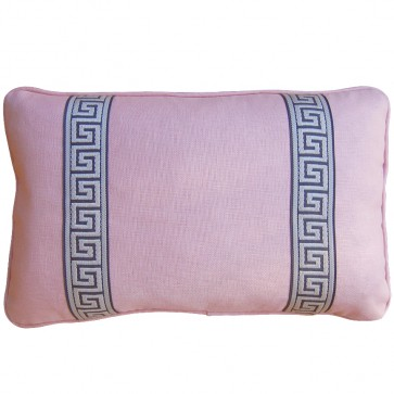 Greek Key Luxury Pillow Pink