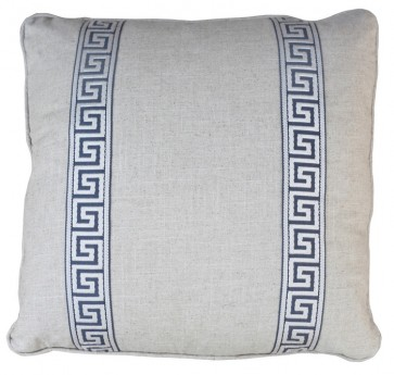 Greek Key Luxury Pillow Gray