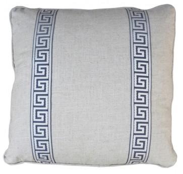 Greek Key Luxury Pillow Gray
