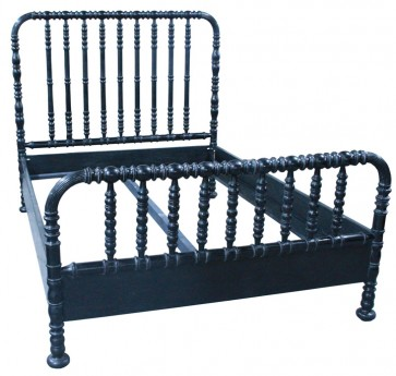 Jenny Lind Style Spindle Bed Black