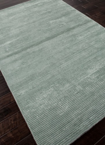Ultra Luxury Classic Wool Silk Rug Sea Foam Green