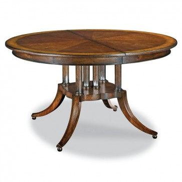 Highland Park Expandable Round to Oval Dining Table