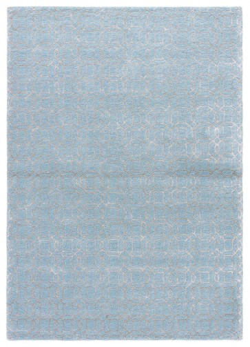 Plush Moroccan Tile Luxury Rug Sky Blue