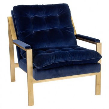 Cameron Modern Navy Velvet Chair Gold (Options)