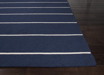 Nantucket Wool Subtle Striped Navy Blue