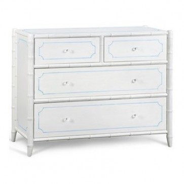 Charlotte Bamboo Four Drawer Chest (colors)