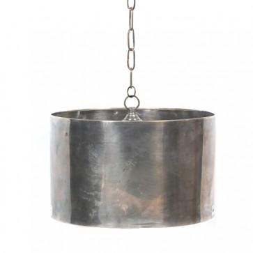 Antique Nickel Drum Chandelier (Sizes)