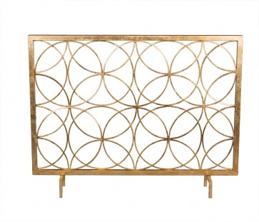 Encircled Gold Fireplace Screen