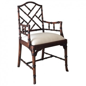 Charlotte Chinese Chippendale Dining Chairs (Side and Arm)