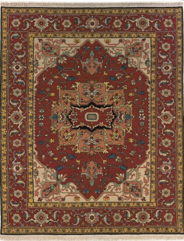Soumak Luxury Wool Rug Brick Red