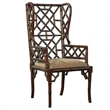 Bamboo Regency Walnut Wing Chair