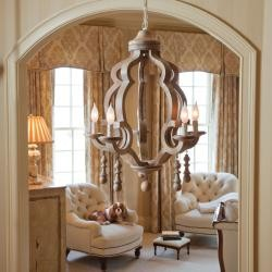 Sconset Chic Wood Chandelier