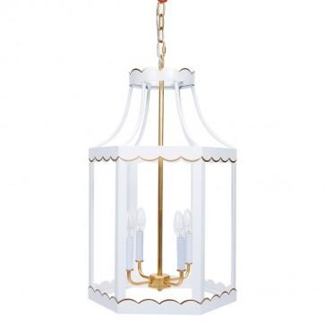 Lilly White Gold Scalloped Lantern (new)