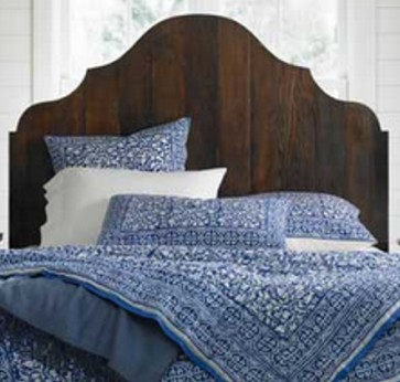 Inga Swedish Country Carved Plank Headboard