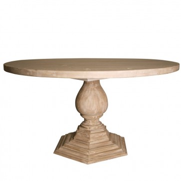 Left Bank Pedestal Dining Table (Custom Built & Finish)