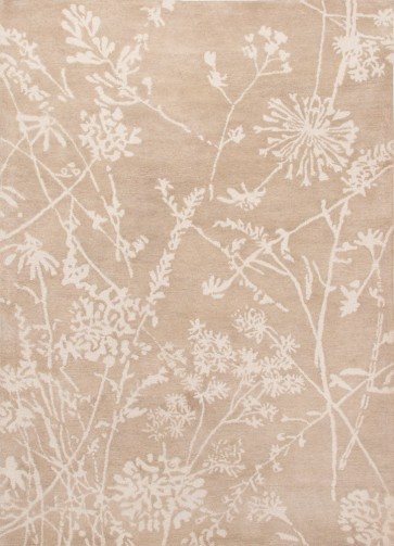 Designer Nature Inspired Rug Gray Tan