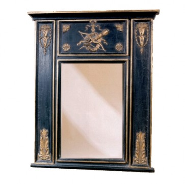 Trumeau Mirror with Gold and Ebony Finish