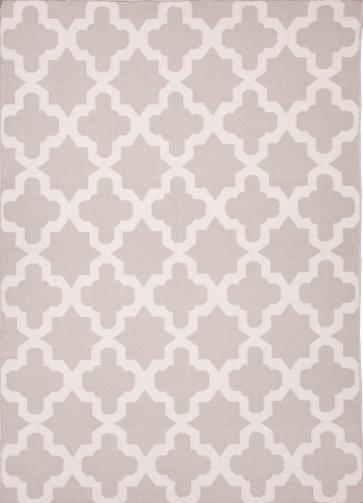 Quatrefoil Maroc Aster Wool Rug Silver Gray