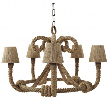 Nautical Rope Twisted Chandelier