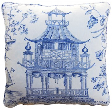 Luxury Blue Pagoda Pillow