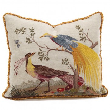 Birds Aves Royale Needlepoint Pillow