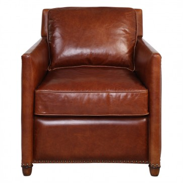Albany Cognac Leather Club Chair NEW!