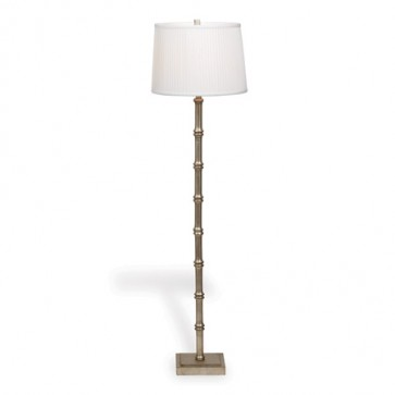 Palm Beach Bamboo Silver Floor Lamp