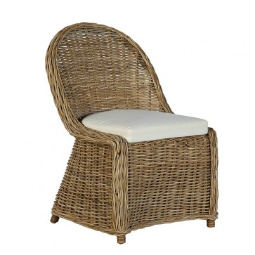 Kubu Spoonback Natural Gray Woven Chair