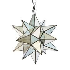 Star Chandelier Pendant Mirrored (sizes)