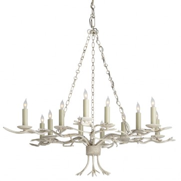 Old White Twig Chandelier New