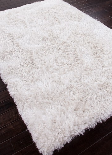 Shaggy Bear Luxury White Shag Rug