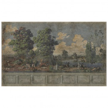 Entire Wall Wallpaper Mural Hunt Scene 16ft
