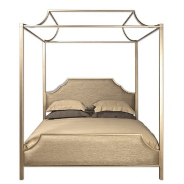 Westwood Upholstered Canopy Bed (Custom Finished)