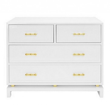White Lacquer Bamboo Chest (Colors)