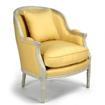 Canary Yellow Bergere Club Chair