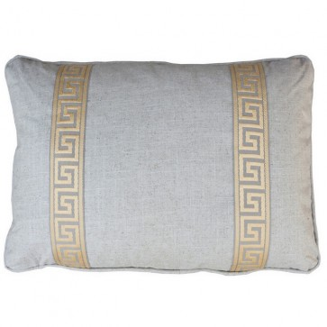 Linen with Yellow Greek Key