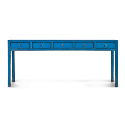 Mandarin Extra Long Console Table (Colors). Zoom
