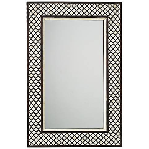 Black And White Bone Inlay Mirror