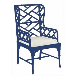 chinese chippendale wing chair custom color. Black Bedroom Furniture Sets. Home Design Ideas