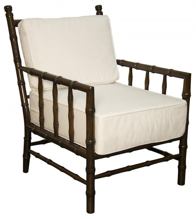 pair of two faux bamboo club chairs - Club Chair