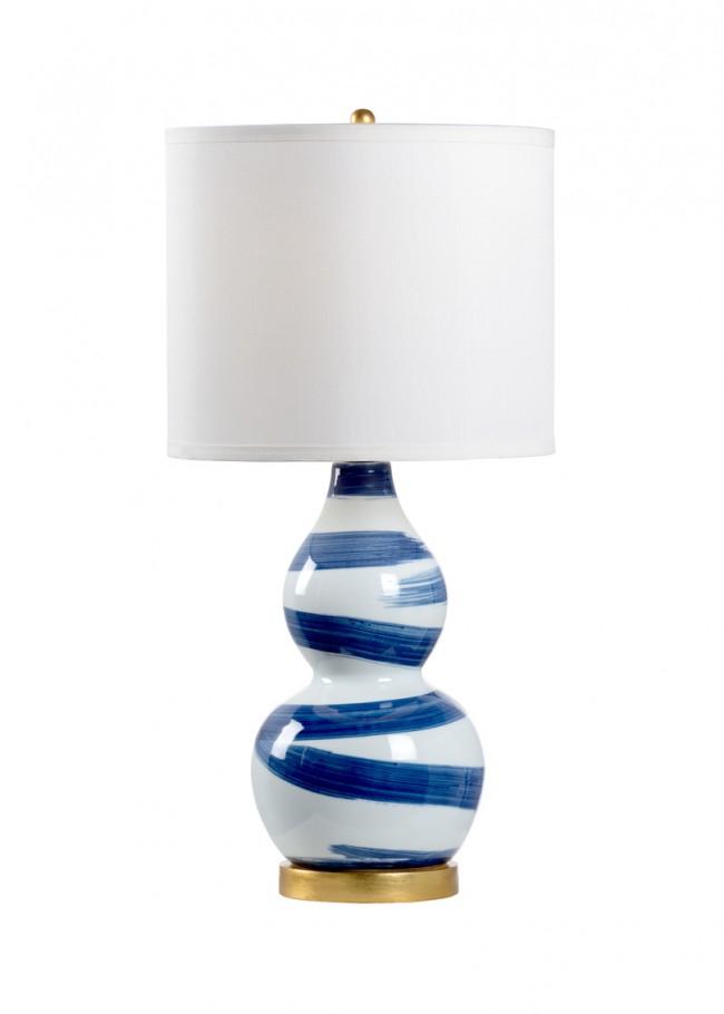 Luxury Blue Brush Strokes Gourd Lamp New