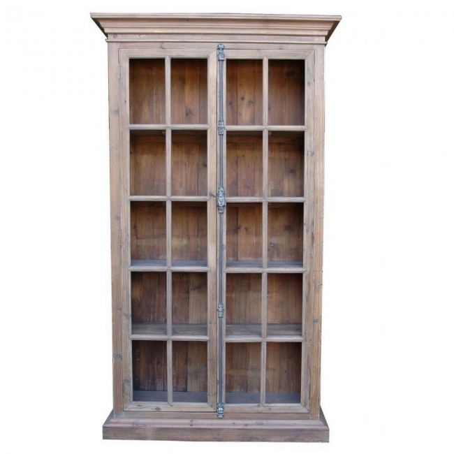 french country reclaimed library cabinet vitrine. Black Bedroom Furniture Sets. Home Design Ideas
