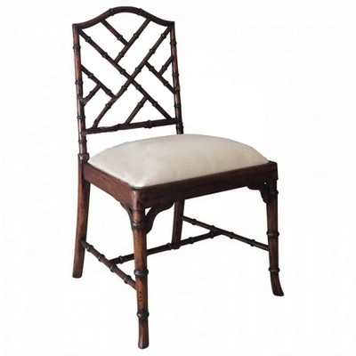 Charlotte Chinese Chippendale Dining Chairs Side And Arm Zoom